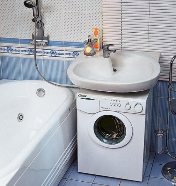 Как установить машинку под раковиной в ванной